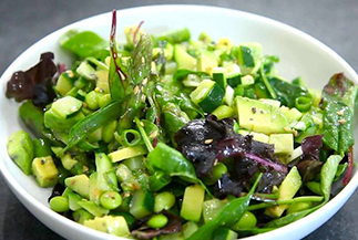 Luxury Asparagus, Soybean and Avocado Salad