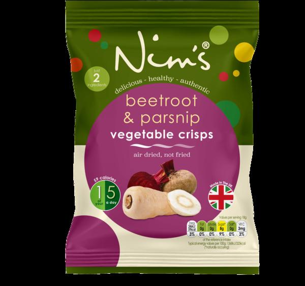 Nim's Beetroot & Parsnip Crisps